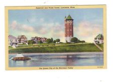 Lawrence, Mass~Reservoir and Water Tower~Vintage Postcard