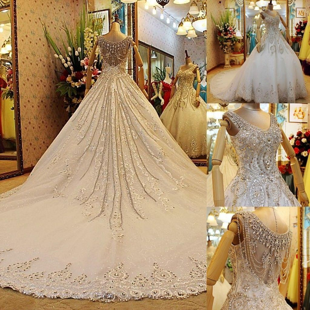 luxury expensive designer wedding dresses 2014 eiffelbride with bling bling crystal beading and embellished lace applique