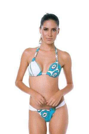 The Jordana in Turquoise Geo by Poko Pano at CoutureCandy.com · Brazilian  BikiniGeoBathing ...