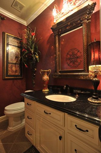 Powder Rooms - traditional - powder room - houston - by The Design