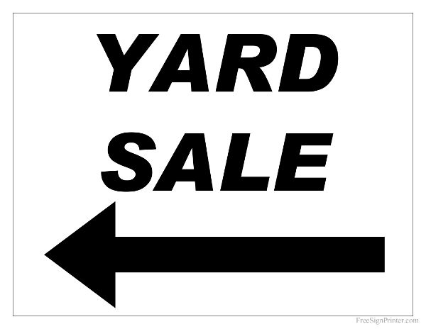 photo regarding Printable for Sale Sign known as garage sale indicator printable -