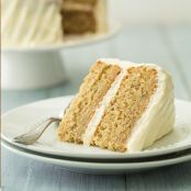 Banana Cake with Fluffy Cream Cheese Frosting Recipe #lemoncreamcheesefrosting