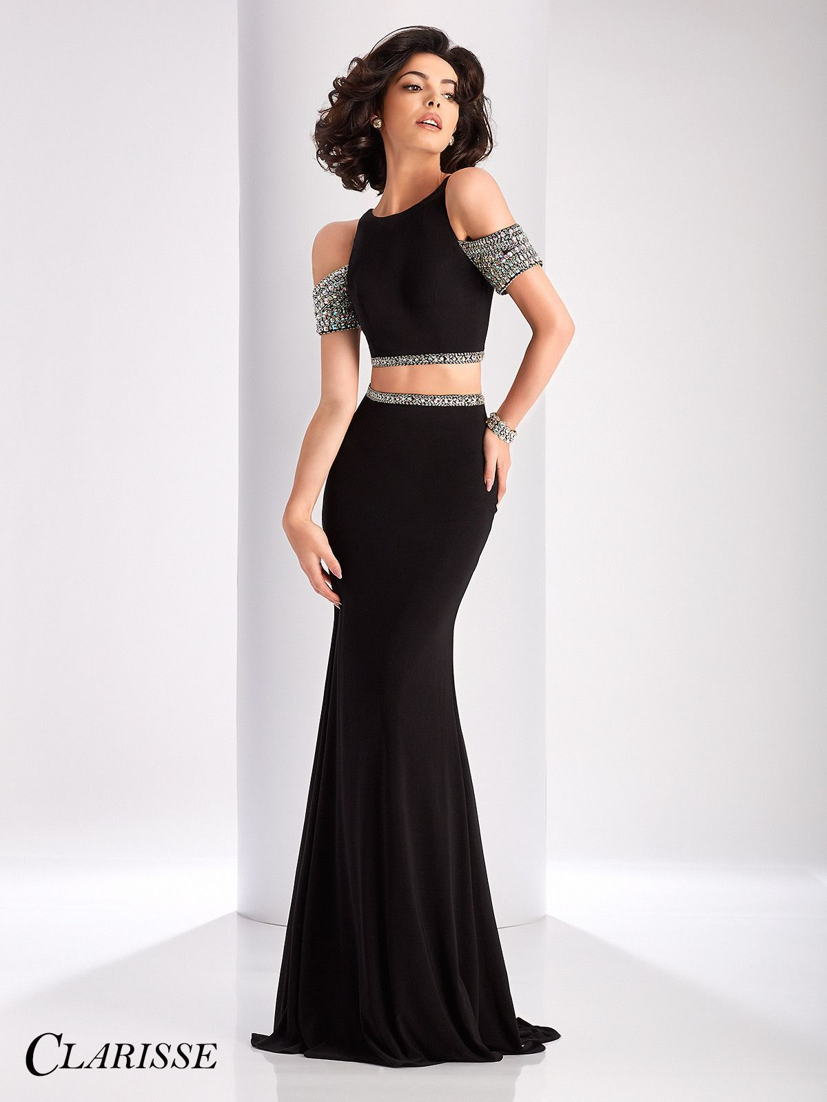 Clarisse prom black twopiece prom dress products pinterest