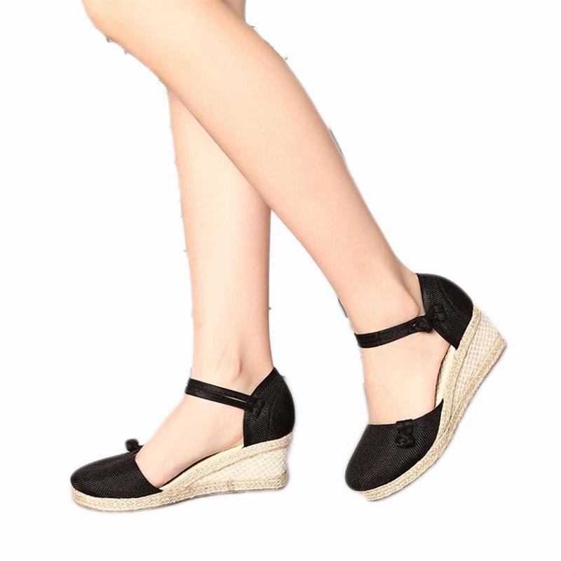 0f50ce6d634 2018 Summer Wedges Women Sandals Close Toe Platform Heel Sandals ...