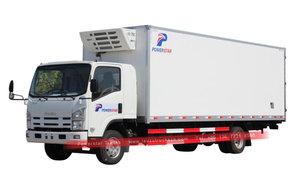 Isuzu Refrigerated Truck For Food Transportation Trucks Truck Design Cool Vans