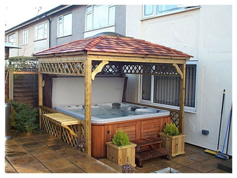 Hot Tub Gazebo Decoracion Pinterest Terrazas
