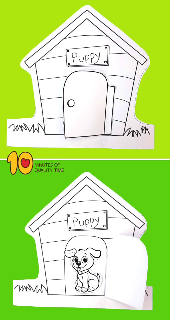 Puppy in Dog House | Best pets for kids, Animals for kids ...
