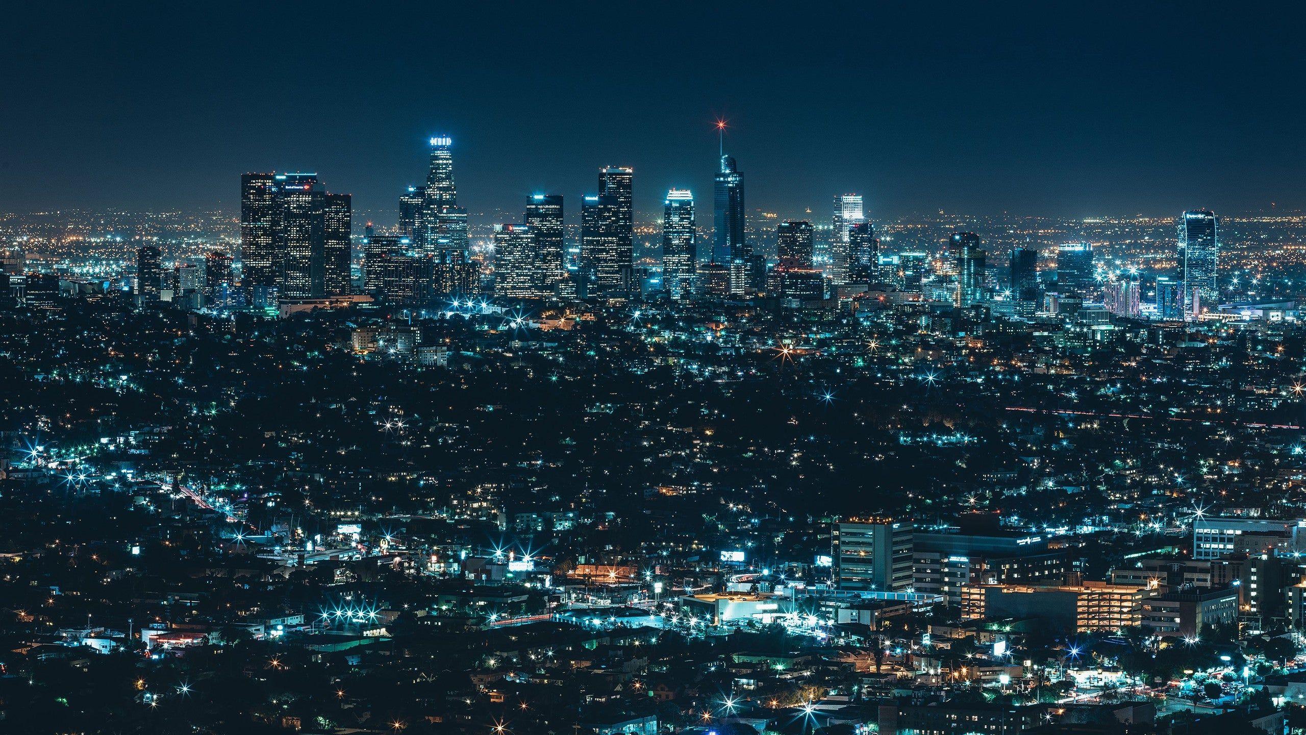 Los Angeles Nightscape Hd Wallpaper 4k Desktop Wallpapers Desktop Wallpapers Backgrounds Nightscape