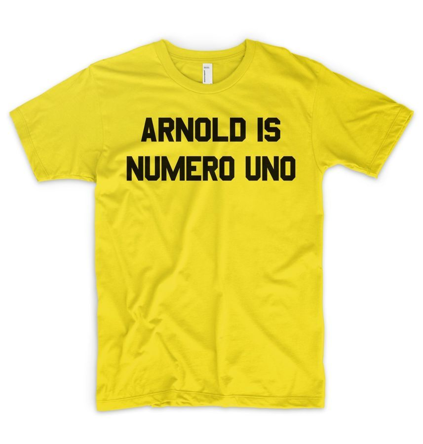 ef6e51cae3440 Arnold Is Numero Uno T Shirt Arnie Schwarzenegger Iron Gym Fitness Golds Gym  Shirt Arnie Uno