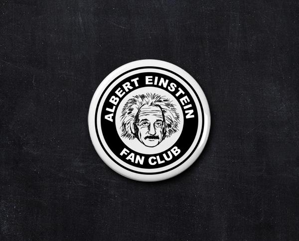 Albert Einstein Fan Club Button Einstein Albert Einstein Albert
