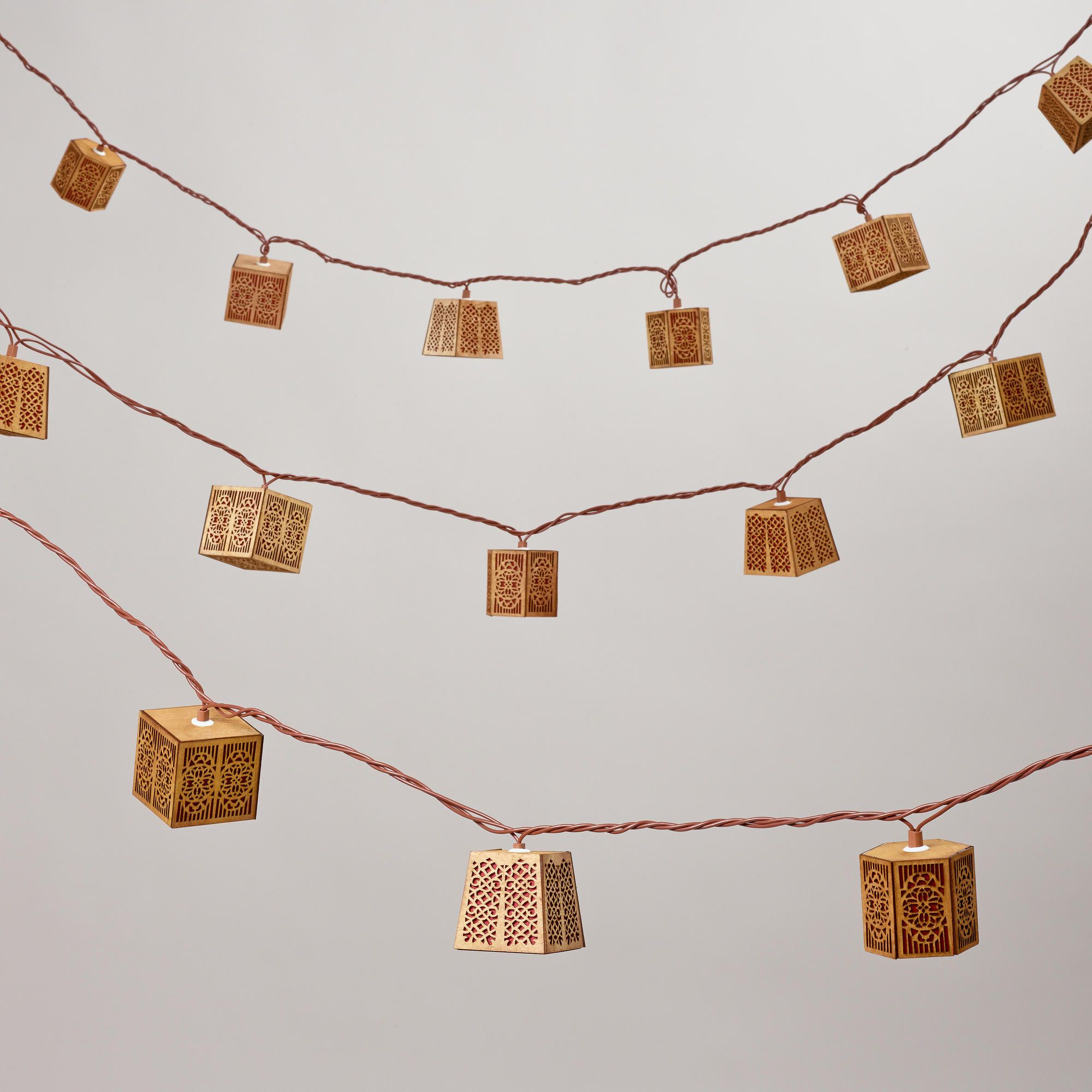 Carved Wood String Lights World Market Currently Out Of Stock