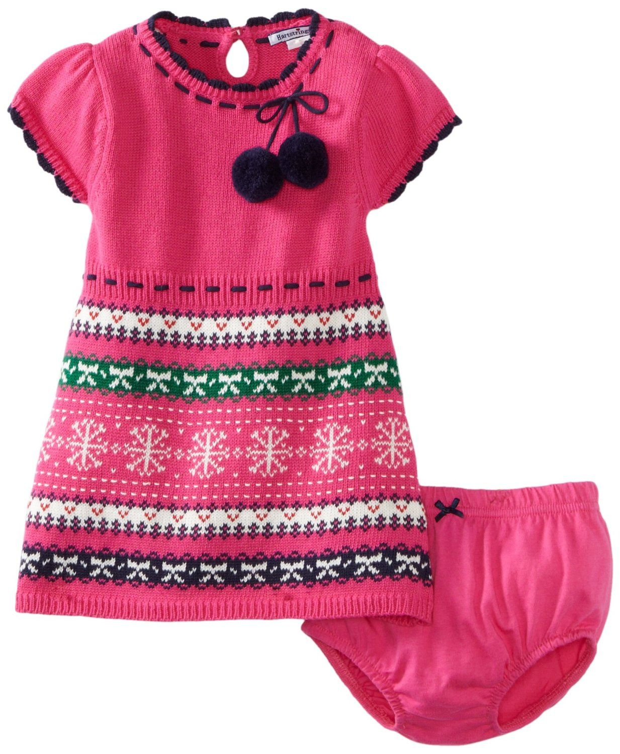 Hartstrings Baby-girls Infant Fair Isle Sweater Dress and Diaper ...