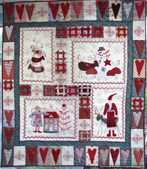 I Designed It You Stitched It Scandinavian Christmas Christmas Quilts Holiday Quilts Country Quilts