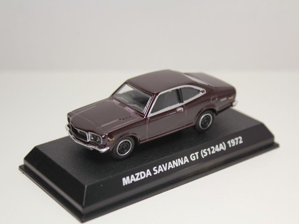 KONAMI MAZDA SAVANNA GT S124A 1972 RX-3 MAROON ROTARY 1/64 JAPAN #Konami #Mazda