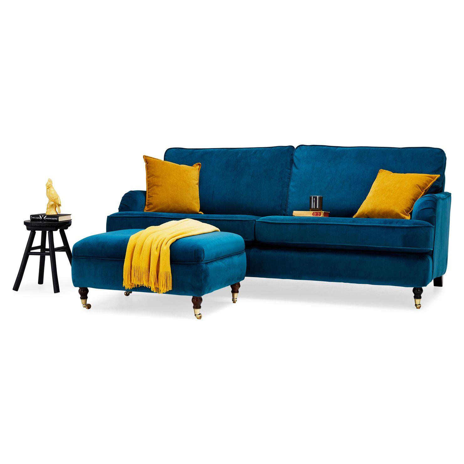 Richmond 3 Seater Sofa, Teal | Teal sofa, 3 seater sofa, Sofa