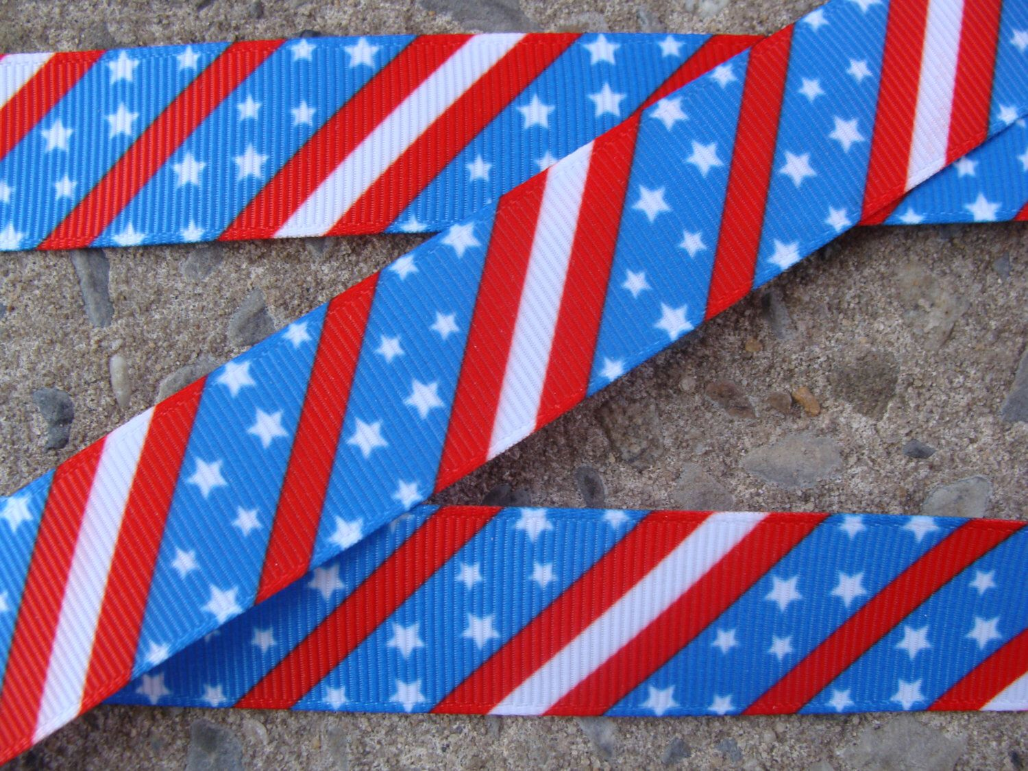 """3 yards 4th of July White Stars Ribbon Printed Grossgrain Ribbon Red and Blue Ribbon 7/8"""" by Aplusribbon on Etsy https://www.etsy.com/listing/191294709/3-yards-4th-of-july-white-stars-ribbon"""