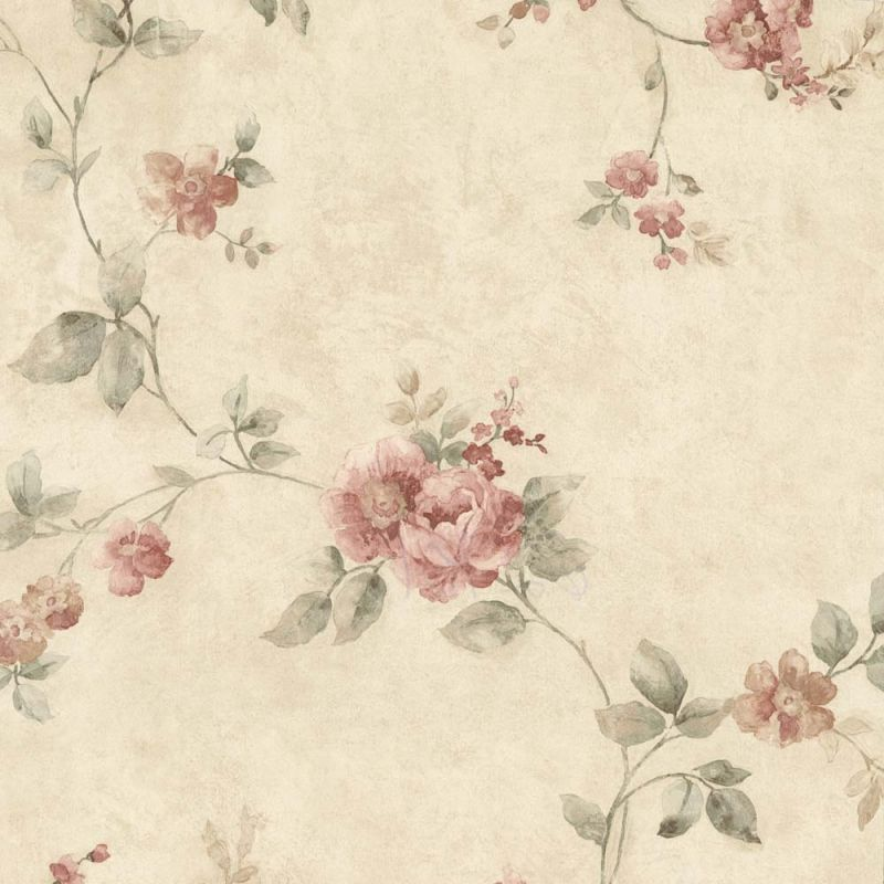 Pink Cabbage Rose Upholstery Fabric