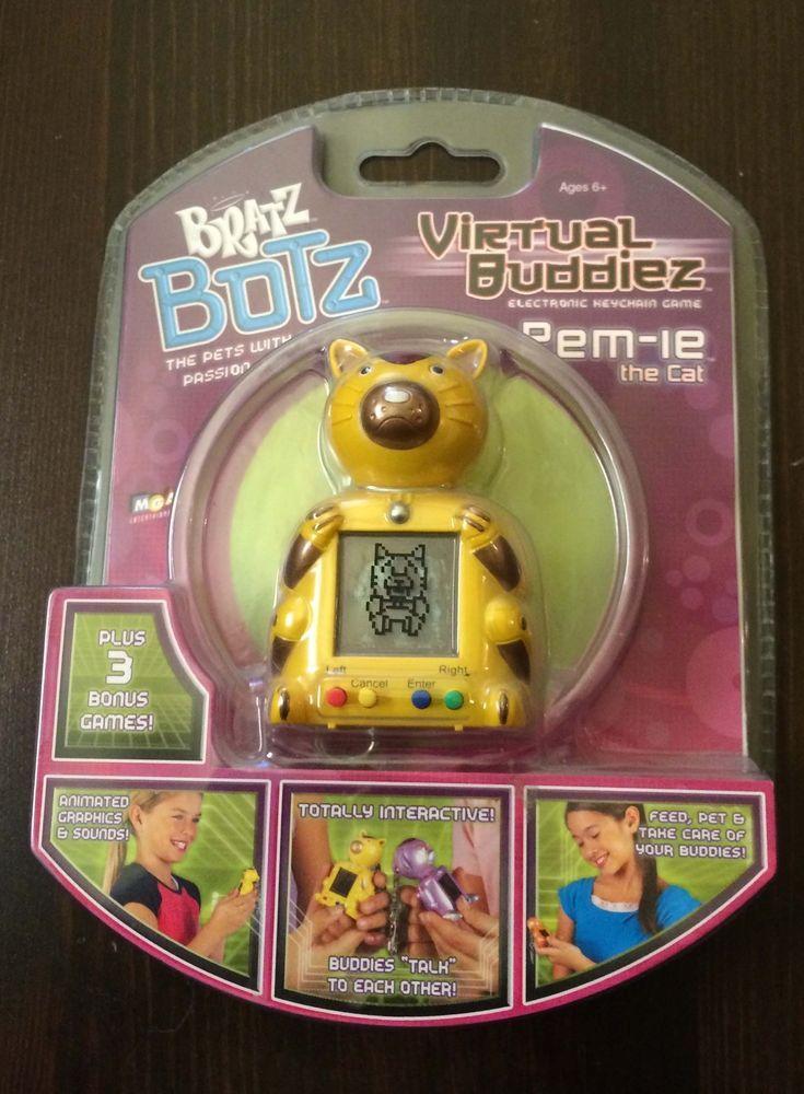 New Bratz Botz Cat Electronic Virtual Pet Buddiez Vhtf Rem Ie Rare Mga Virtual Pet Electronics Pets