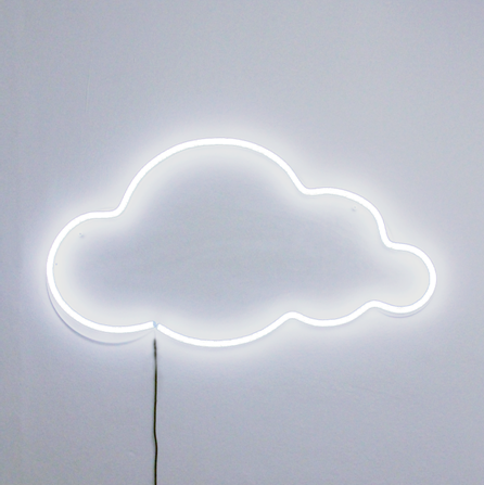 White Cloud Led Neon Sign Led Lighting Bedroom Black And White Photo Wall Black And White Picture Wall