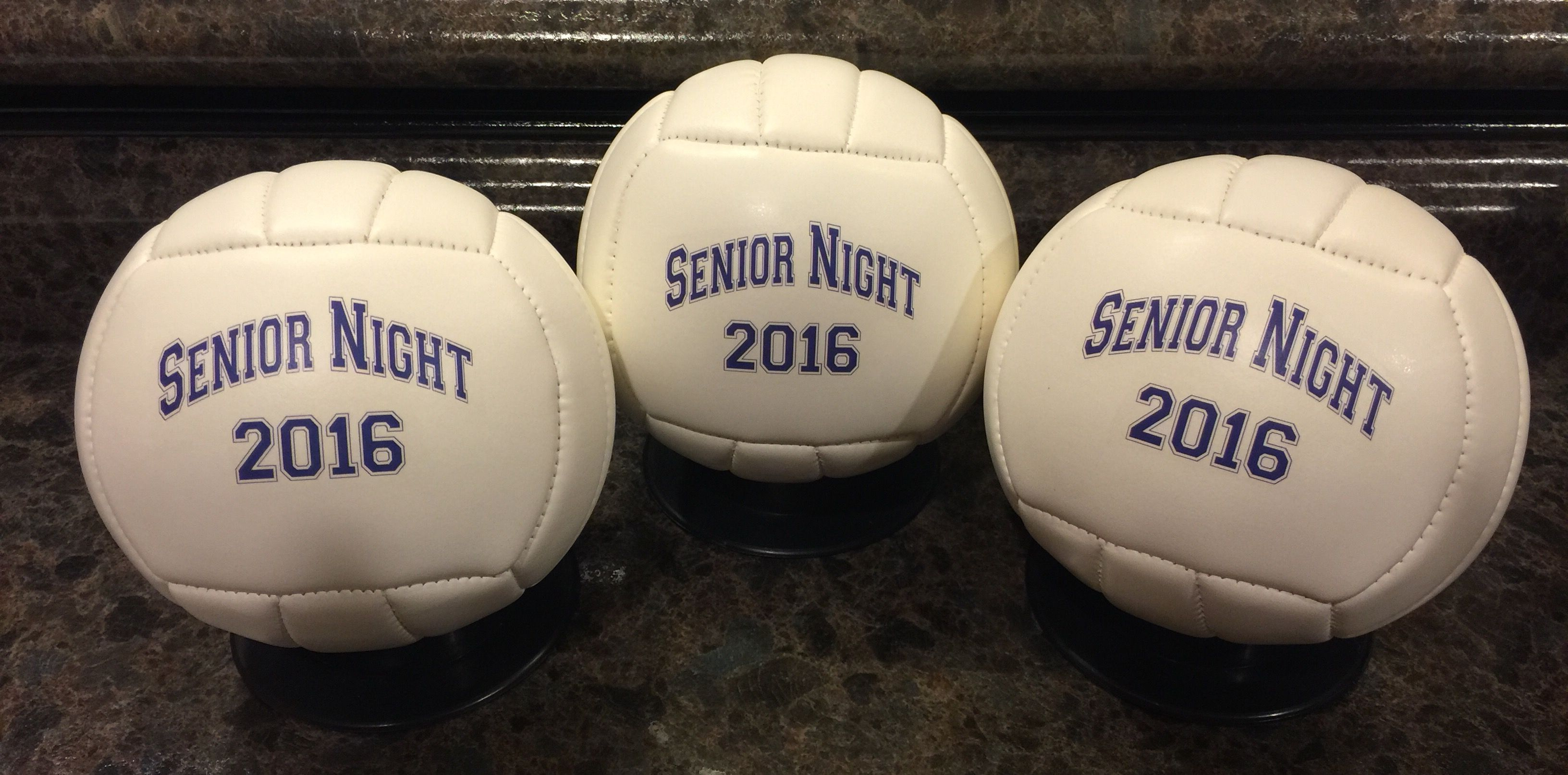 Mini Volleyballs For The Seniors Done By Get On The Ball Photos Print On The Front And Back Side Sports Gifts Volleyballs Volleyball Gifts