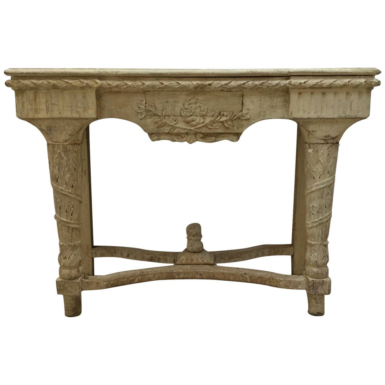19th Century French Louis Xvi Style Console Table From A Unique
