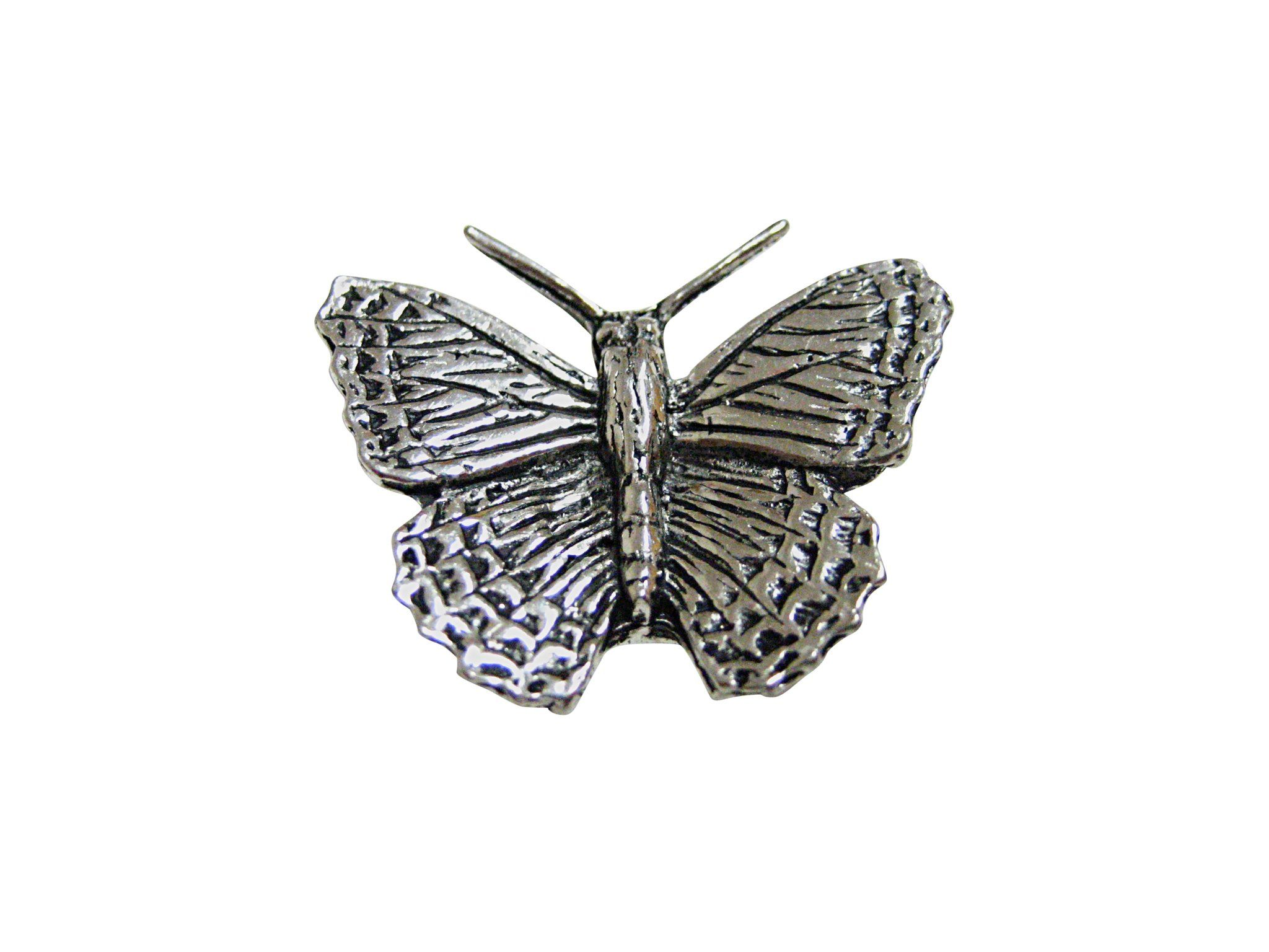 Silver Toned Etched Oval Grasshopper Locust Insect Tie Tack
