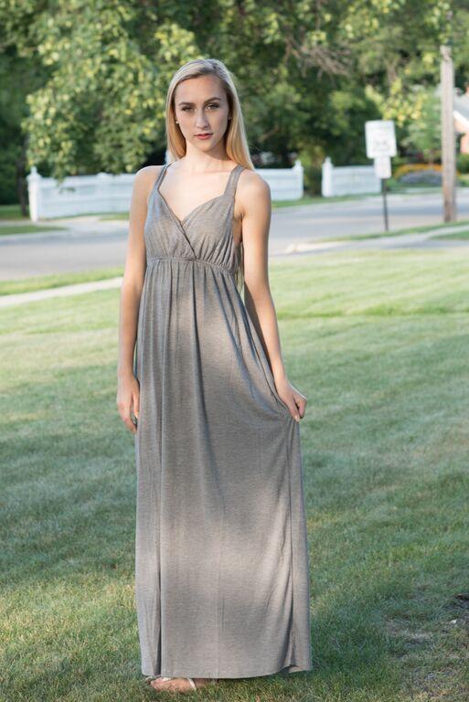 All Day Grey Maxi Dress
