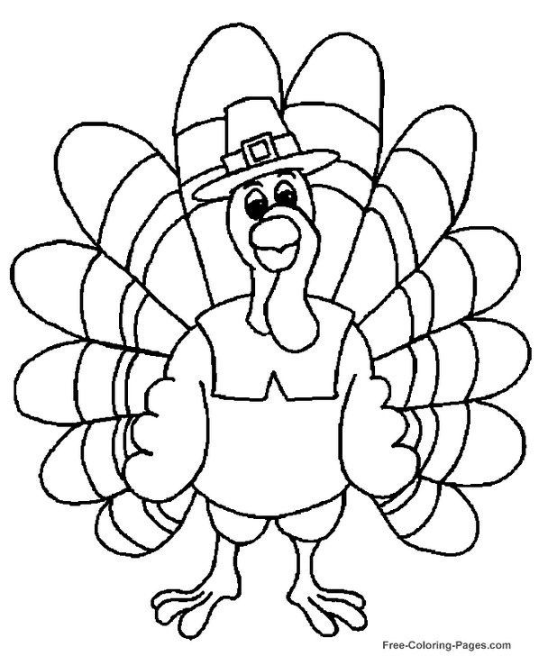 Thanksgiving Turkey Coloring Page | Projects | Pinterest | Acción ...