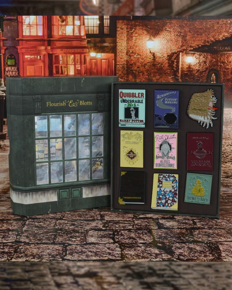 Official Harry Potter Flourish Blotts Pin Badge Set