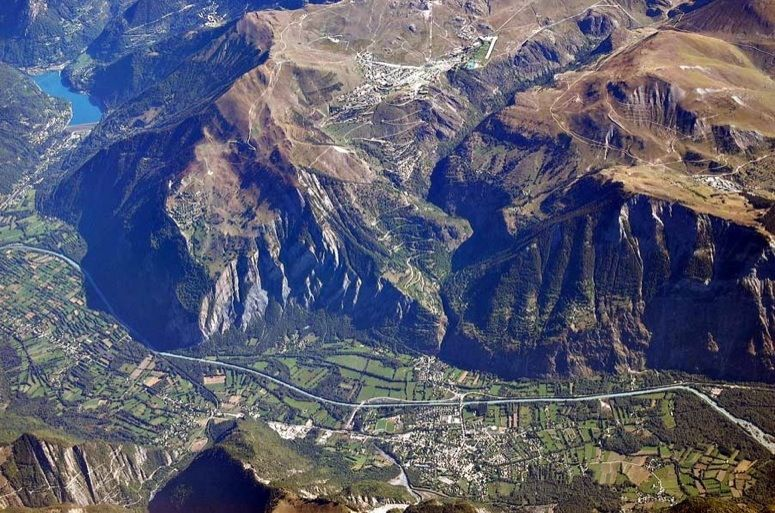 An overhead shot of Alpe d'Huez now confirmed as the