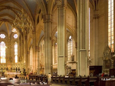 Central Nave Of The Neo Gothic Cathedral Of St Stephen Zagreb Croatia Europe Photographic Print Lawrence Graham Allposters Com Gothic Cathedral Zagreb Croatia