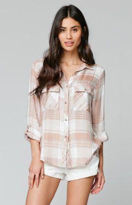 Drapey Tunic Button Down Shirt