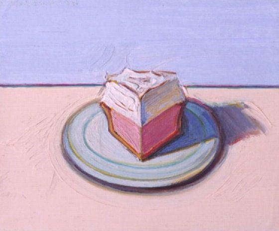 Pie Slice (1991), Wayne Thiebaud.
