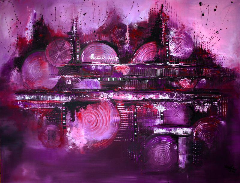 113 Verkaufte Abstrakte Bilder Lila City 2 Skyline Bilder