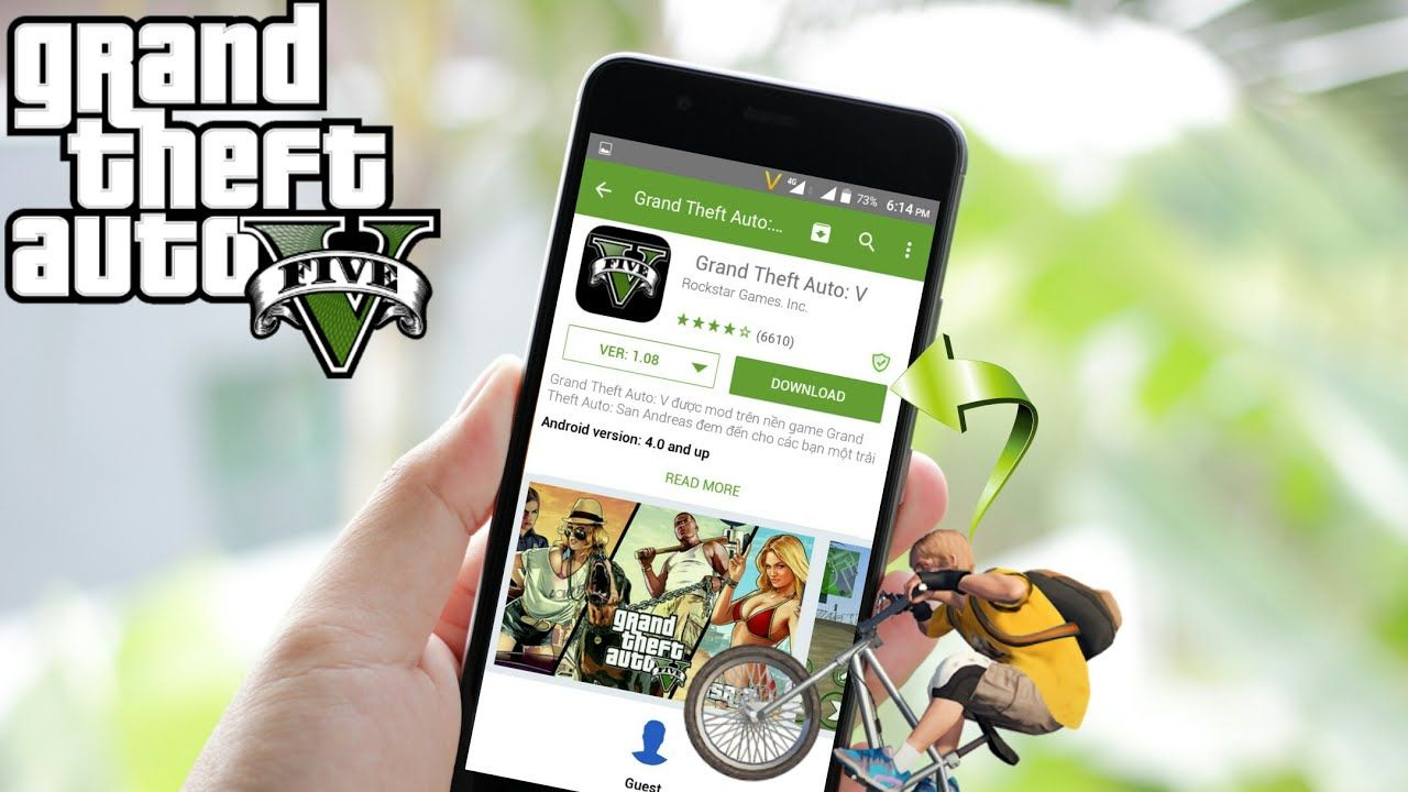Download now gta 5 for Android from App store YouTube in