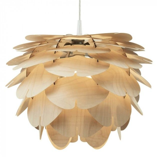 Beautiful Pinecone Shaped Lamp From Lunelamper.no Handmade In Poland With  Birch From Finland #