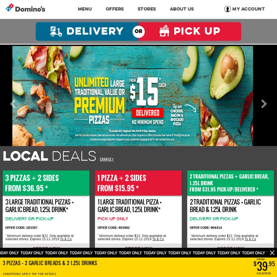 Any Premium or New Yorker Pizza 10 Pick up Domino's