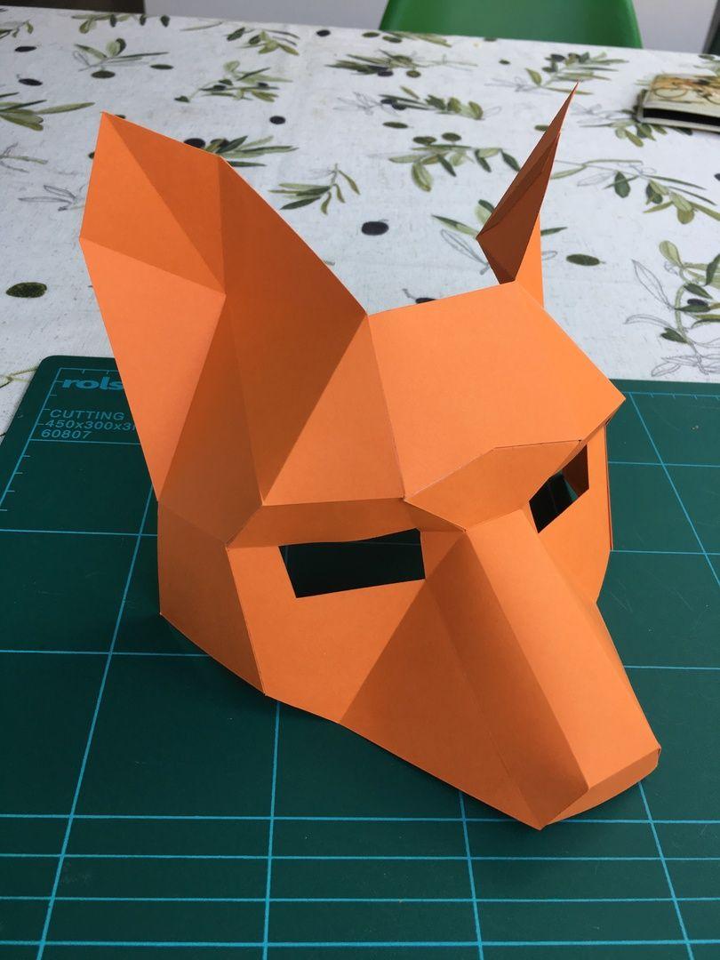 Fox Half Mask   Cardboard mask, Half mask, Fox mask  Wintercroft Fox Mask
