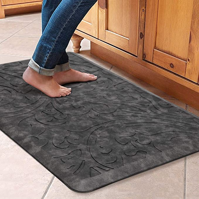 Amazon Com Kmat Kitchen Mat Cushioned Anti Fatigue Floor Mat Waterproof Non Slip Standing Mat Ergonomic Co In 2020 Kitchen Mat Kitchen Rugs Sink Anti Fatigue Flooring