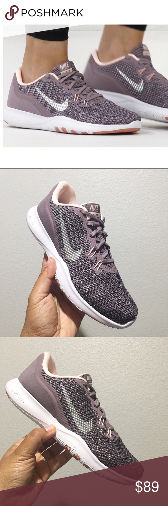 237f19fa41c43 Nike Flex Trainer 7 Bionic Women s Shoes Size 7 Brand New in Box! 🙌🏽 - Women s  Nike Flex Trainer 7 Bionic Taupe Grey   Metallic Silver 917713 200 ...