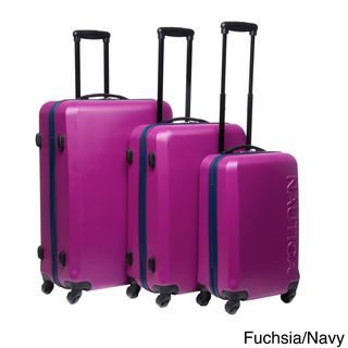 Nautica 'Ahoy' 3-piece Hardside Spinner Luggage Set by Nautica ...