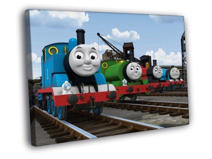 Thomas The Tank Engine Friends Cartoon Kids 40x30 Framed