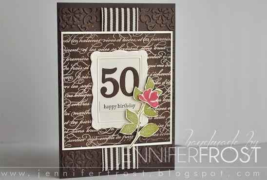 Handmade by Jennifer Frost: Happy 50th Birthday