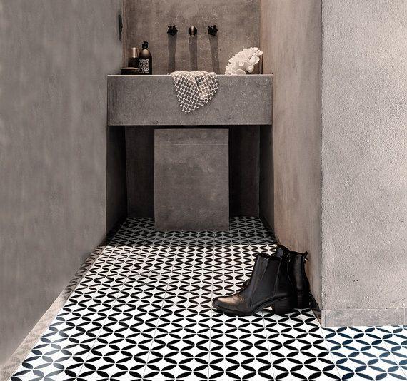 Ronda Black Sheet Vinyl Flooring 2 Metre Wide Roll Bathroom
