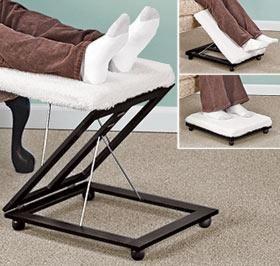 Genial Adjustable Footstool @ Harriet Carter