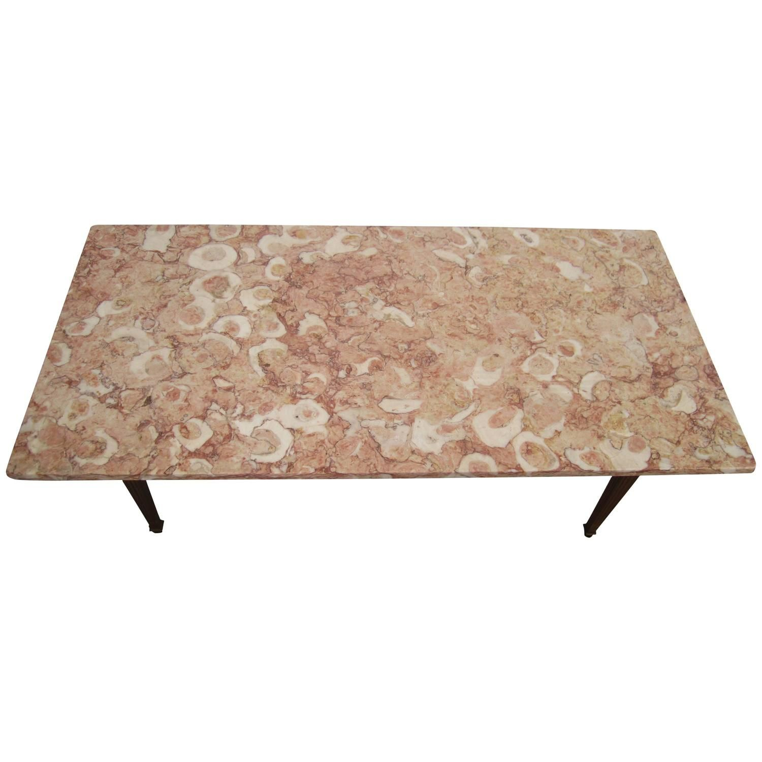 Italian Marble Top Coffee Table Rascalartsnyc