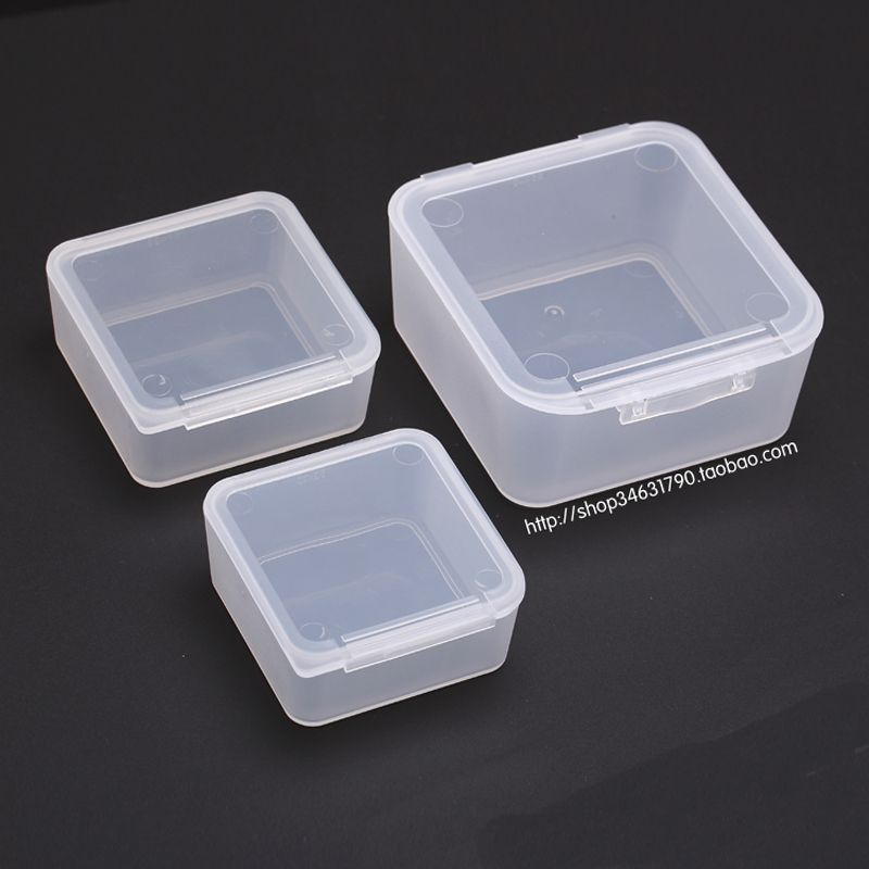 Transpa Plastic Small Square Container