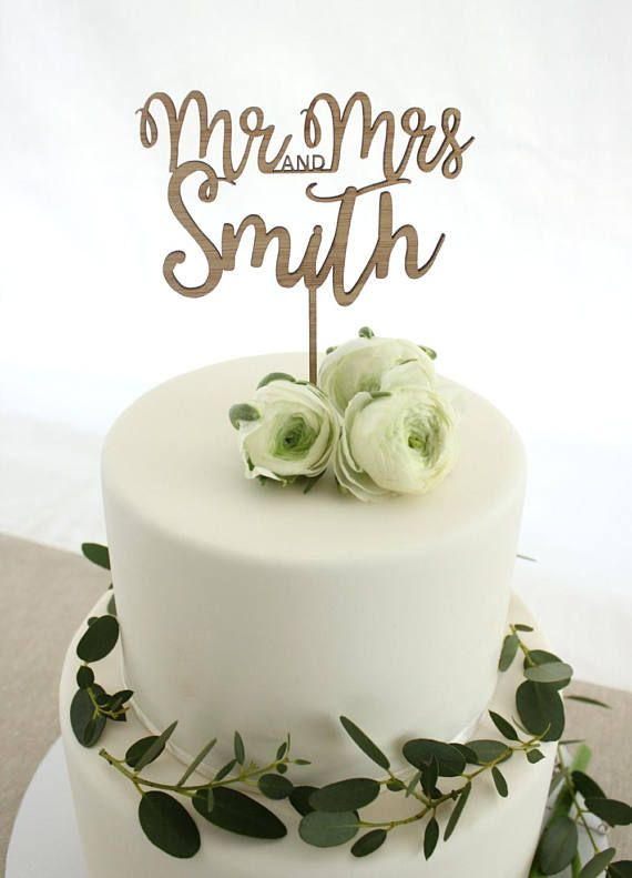 Personalised Cake Topper Custom Wedding Cake Topper Eco Friendly