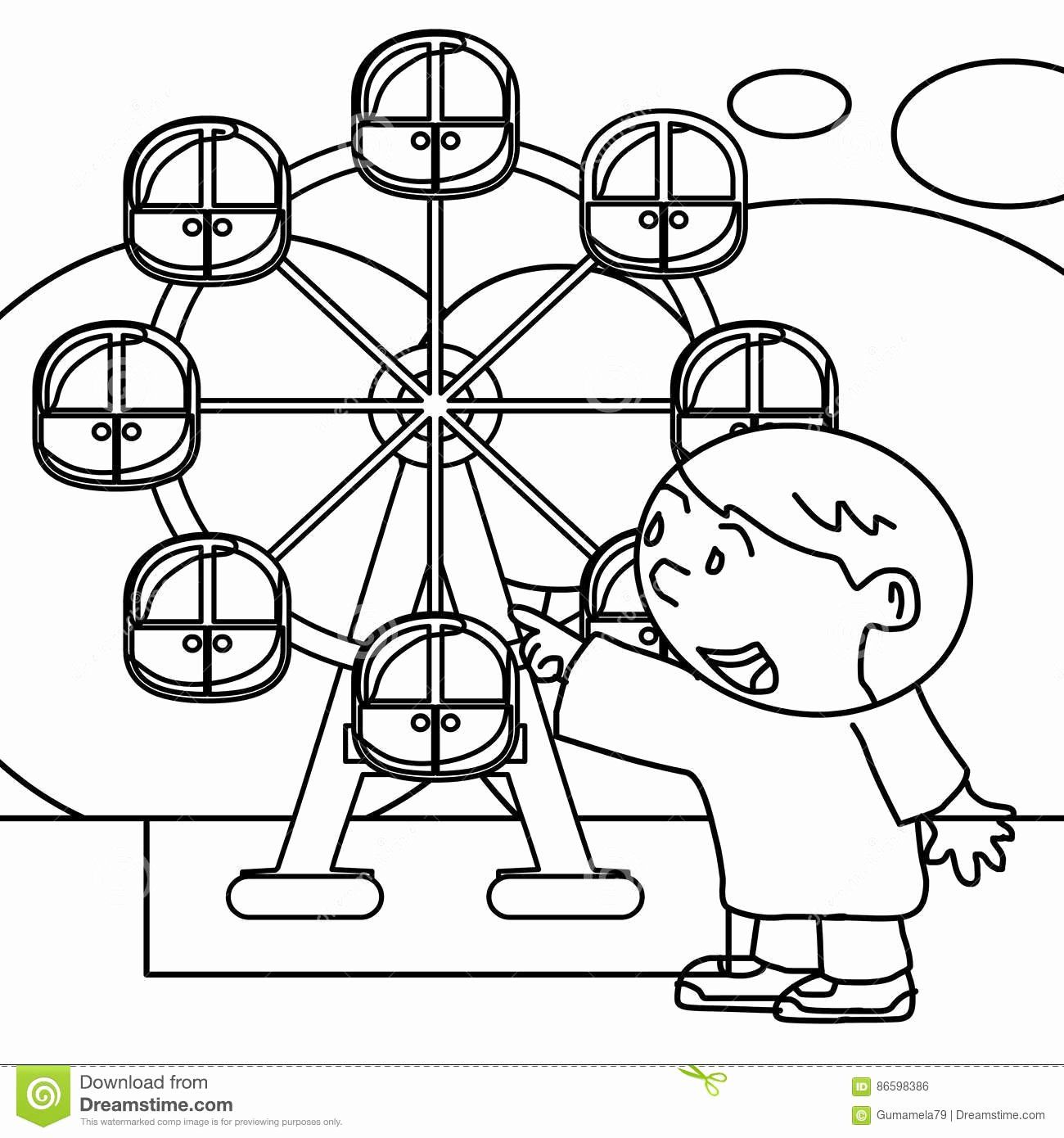 Ferris Wheel Coloring Pages Fresh Kid Coloring Page Stock Illustration Illustration Of Coloring Pages Color Printable Coloring Pages
