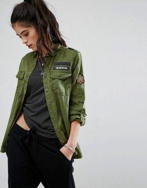 Shirts | Women's shirts & blouses | ASOS | Military shirts